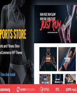 sports store woocommerce wordpress theme gpl pass