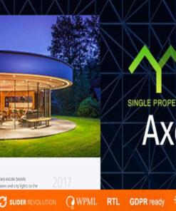 axel single property real estate theme gpl pass