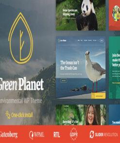 ecology & environment wordpress theme green planet gpl pass