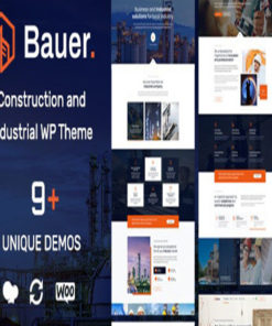 bauer construction and industrial wordpress theme gpl pass